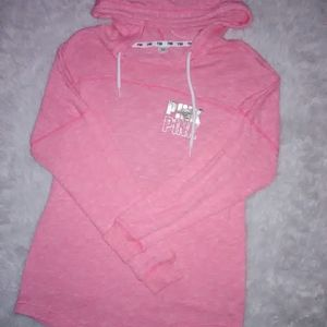 L PINK Sweatshirt large top Victoria Secret